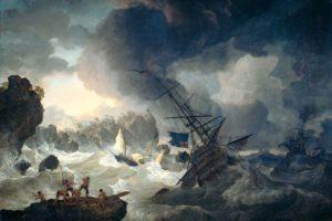 Cabeza de Vaca, Hendrik Kobell, Painting, Artwork, Shipwreck