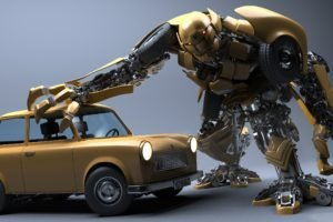 Trabant, Robot, CGI