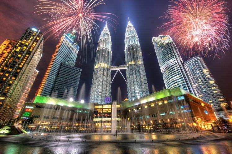 Petronas Towers, Kuala Lumpur, Malaysia, Cityscape HD Wallpaper Desktop Background