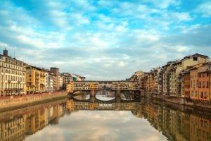 cityscape, Bridge, Florence, Italy, Ponte vecchio