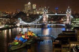 cityscape, London, England, UK, Tower Bridge
