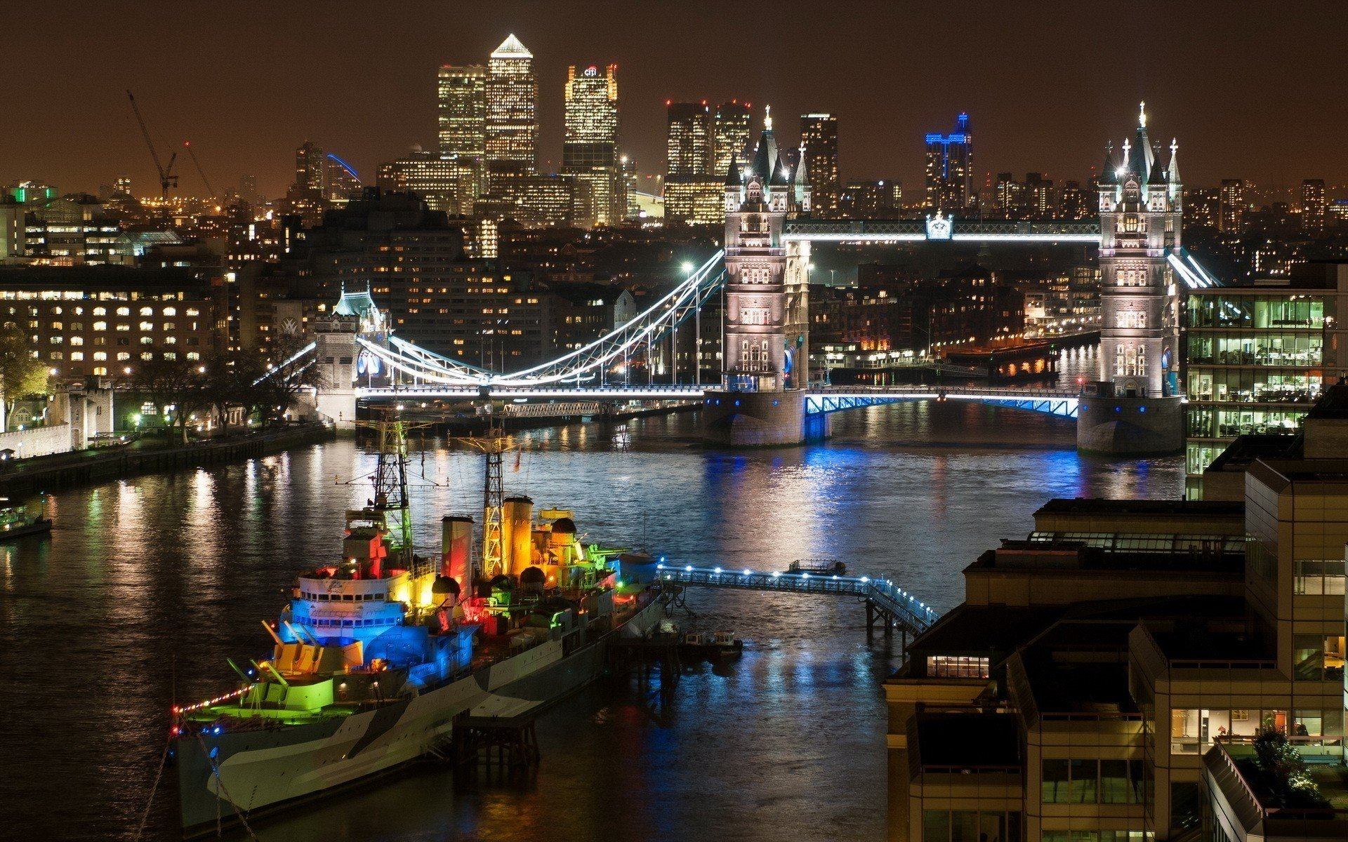 Cityscape, London, England, UK, Tower Bridge HD Wallpapers