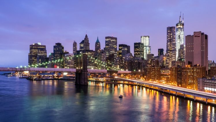 Cityscape New York City Usa Brooklyn Bridge Hd Wallpapers