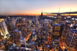 cityscape, New York City, USA, Empire State Building