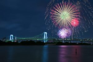 fireworks, Bridge