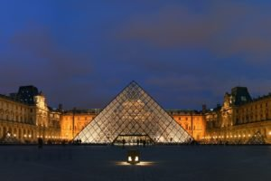 The Louvre, Paris, France, Pyramid