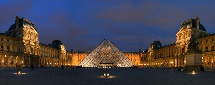 The Louvre Paris France Pyramid Hd Wallpapers Desktop