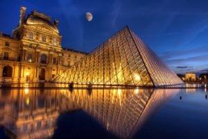 The Louvre, Paris, France, Pyramid, Photo manipulation