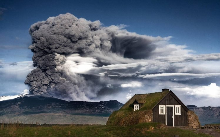 Iceland Eruption Mountain Volcano Hd Wallpapers Desktop