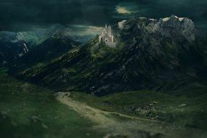 mountain, Castle