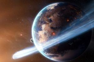 Earth, Comet