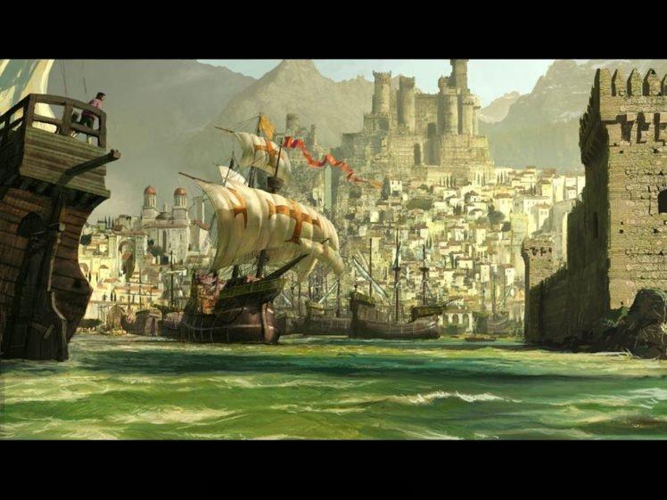 castle, Spain, Ports HD Wallpaper Desktop Background