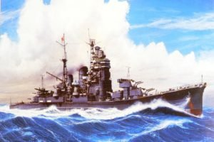 ship, Destroyer, World War II, Japan