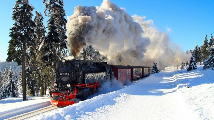 Train Snow Steam Locomotive Hd Wallpapers Desktop And Mobile Images Photos
