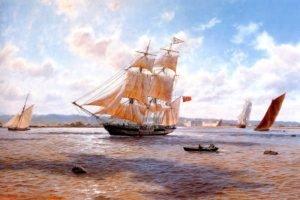 bay, Fortress, Rowboat