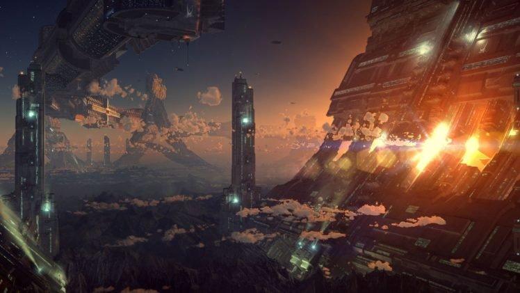 futuristic, Technology, World, Science fiction HD Wallpaper Desktop Background