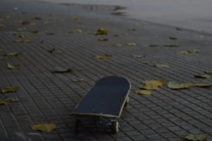 skateboard, Leaves, Skatepark, Fall