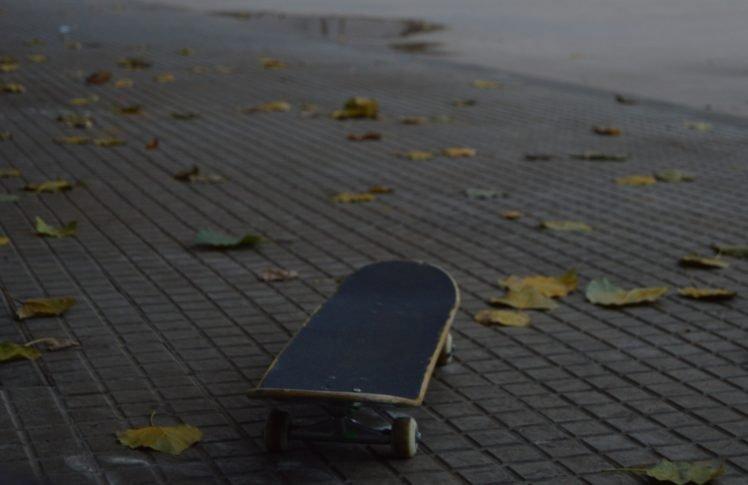 skateboard, Leaves, Skatepark, Fall HD Wallpaper Desktop Background