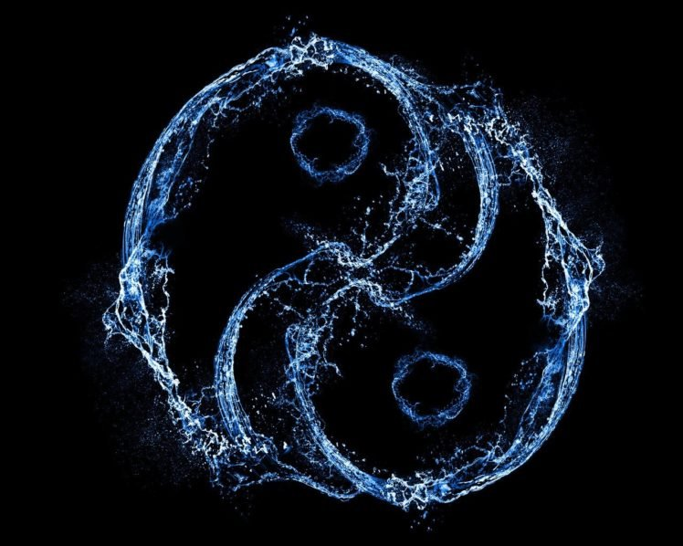 water, Yin and Yang, Water drops HD Wallpaper Desktop Background