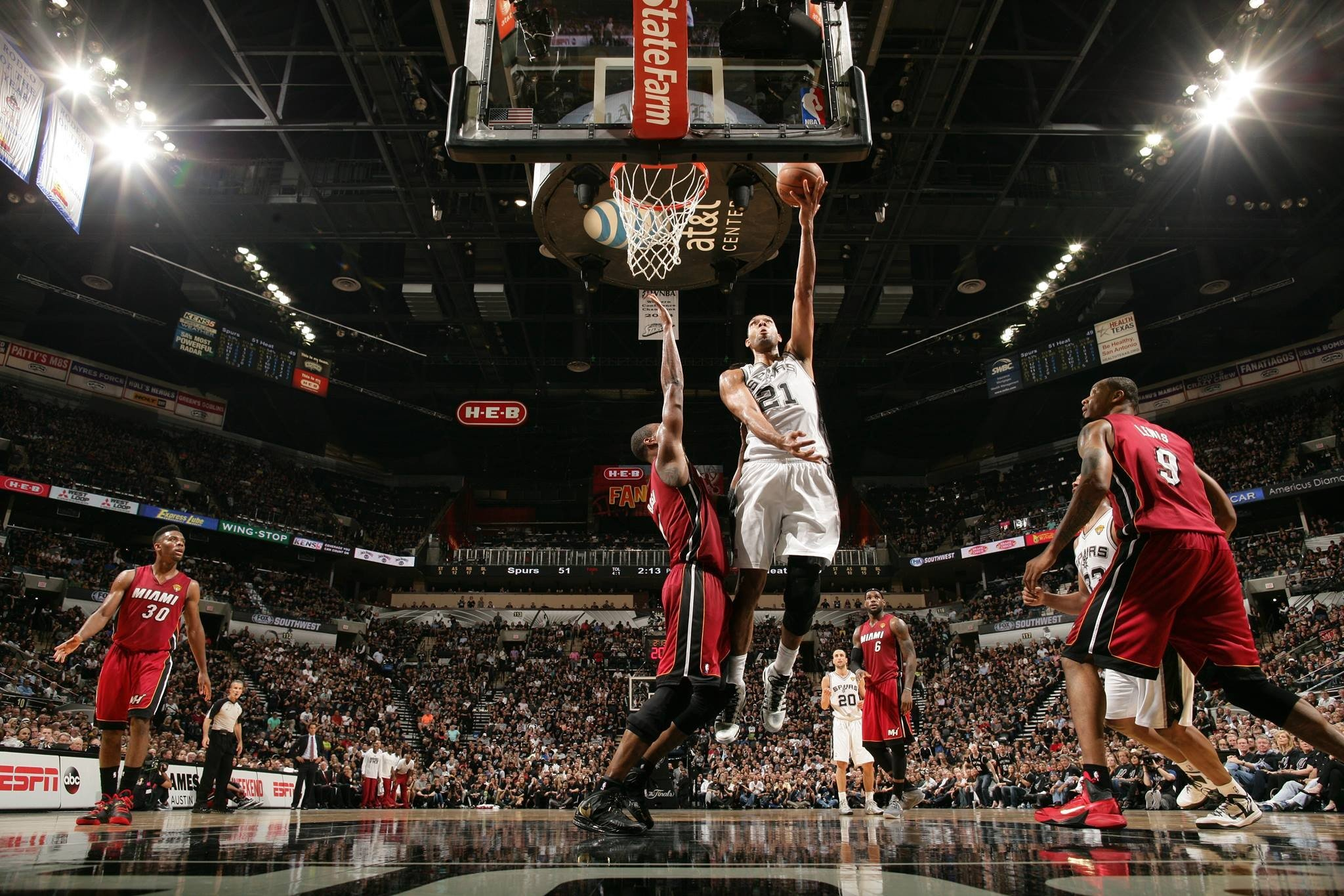 Nba Tim Duncan Miami Heat San Antonio Spurs Hd