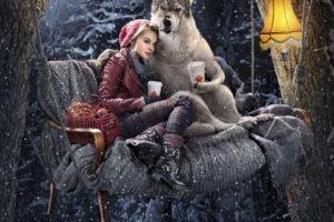 women, Model, Winter