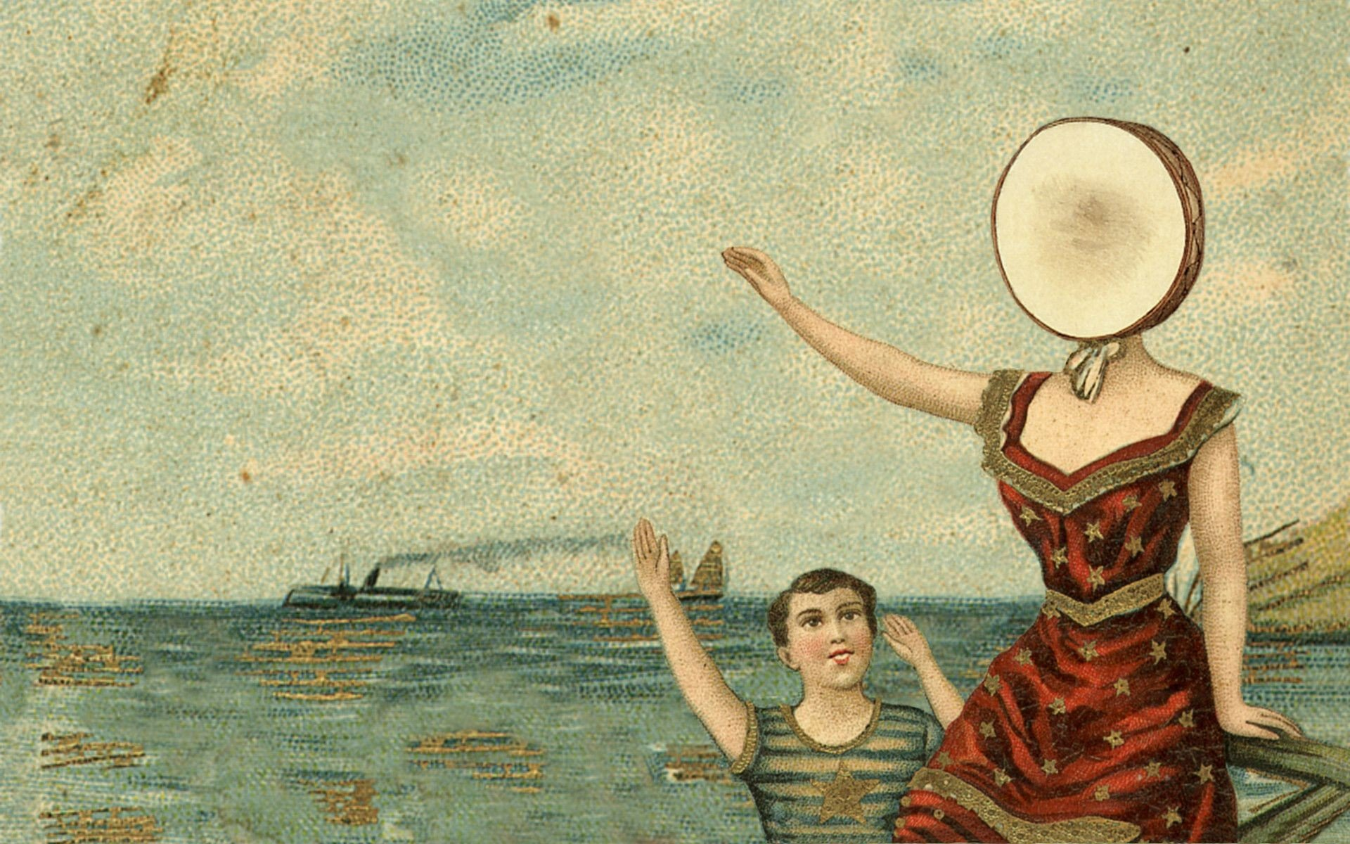 Neutral Milk Hotel, In the Aeroplane Over the Sea, Music, Album covers HD Wallpapers / Desktop ...