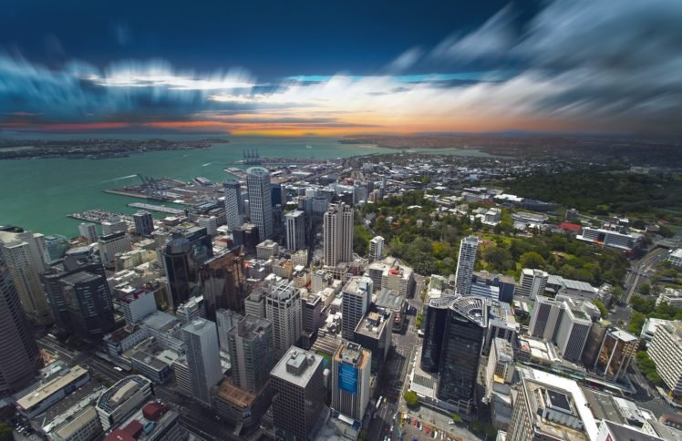 cityscape, Building, Sea, Auckland HD Wallpaper Desktop Background