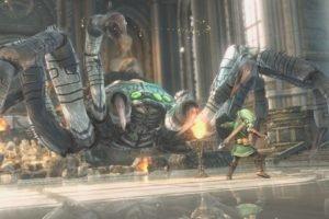 Link, The Legend of Zelda, Giant Spider, Video games, Screen shot