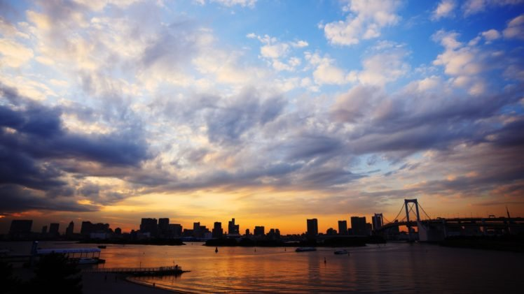 cityscape, Sunset HD Wallpaper Desktop Background