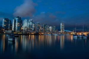 city, Anime, Cityscape, Vancouver, Night