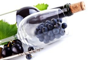 food, Wine, Grapes, White background