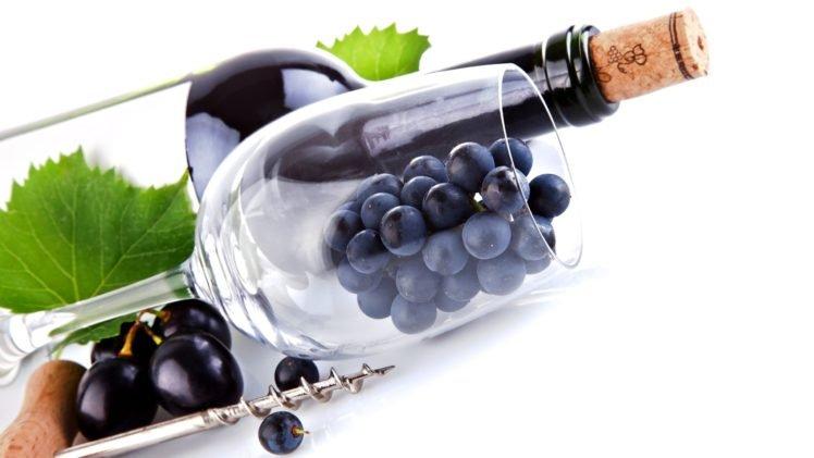 food, Wine, Grapes, White background HD Wallpaper Desktop Background