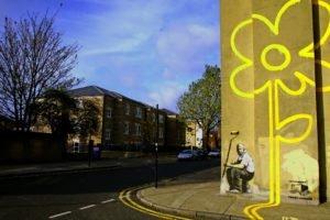 street, Graffiti, Banksy