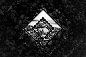geometry, Minimalism, Dark, Stones, Polyscape