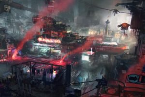 cyberpunk, City, Ghetto, Futuristic