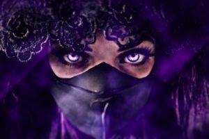women, Purple, Veils, Photo manipulation, Mask