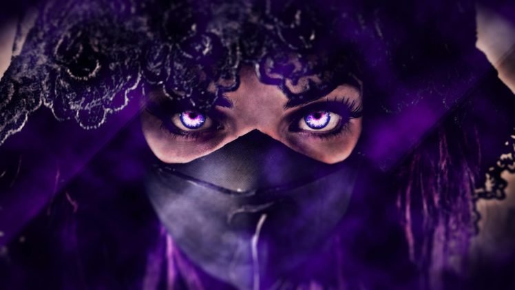 women, Purple, Veils, Photo manipulation, Mask HD Wallpaper Desktop Background