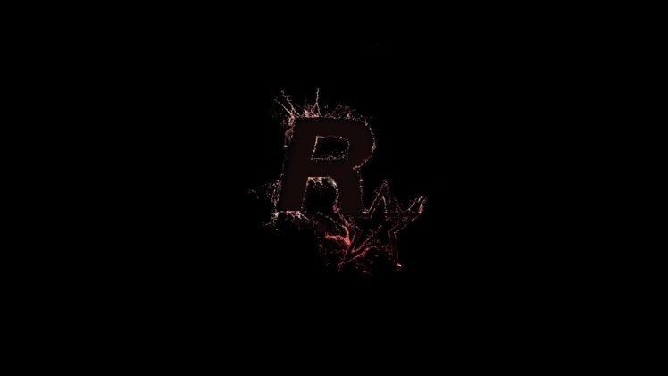 Rockstar Games Simple Black Background Dark Black Hd