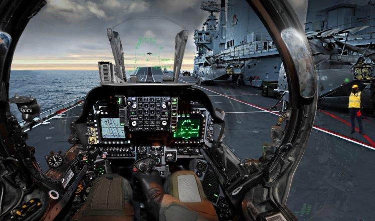 Harrier, Royal Navy, Cockpit, Helicopters HD Wallpaper Desktop Background