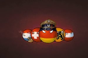 anime, Countryballs, Germany, Switzerland