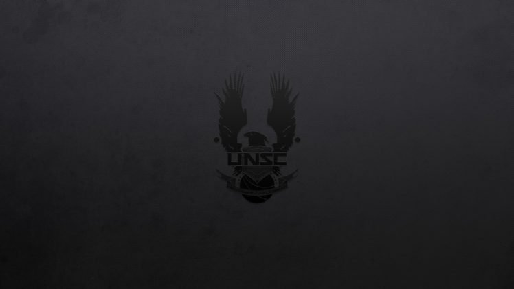 Black Background, Halo, Unsc, Video Games, Minimalism -9028
