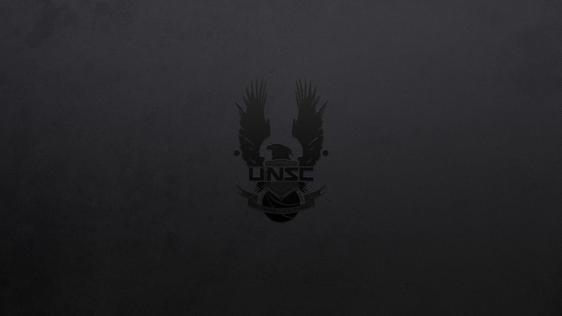 Black Background Halo Unsc Video Games Minimalism Dark
