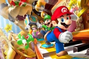 bowser, Princess Peach, Super Mario, Mario Party, Nintendo, Luigi, Video games, Peach