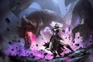 elves, Dragon, Dagger, Hydra