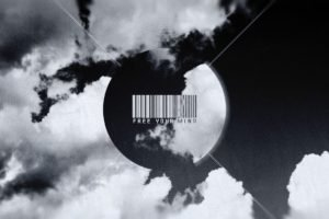 barcode, Typography, Clouds, Monochrome
