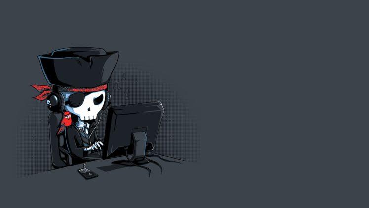 Pirates Computer Skeleton Minimalism Skull Hd Wallpapers