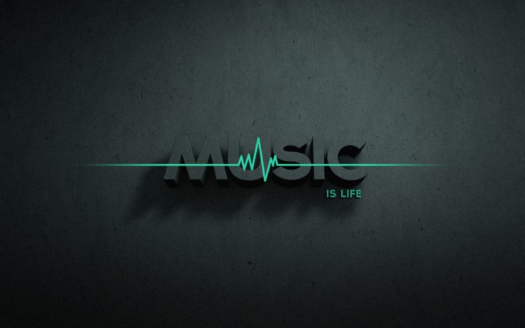 Typography Music Music Is Life Hd Wallpapers Desktop And Mobile