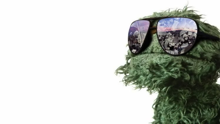 Oscar The Grouch Glasses Sesame Street Money HD Wallpaper Desktop Background