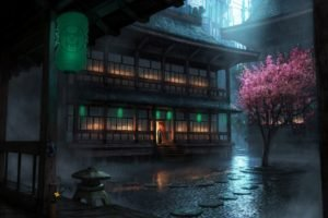 Japanese, Chinese architecture, Chinese, Anime