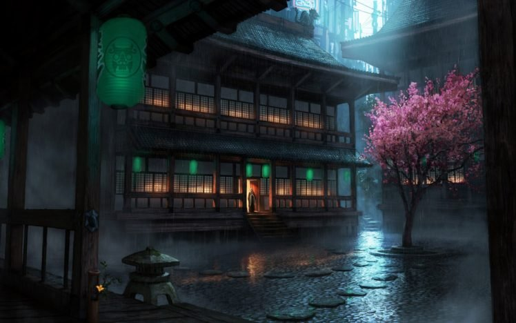 Japanese, Chinese architecture, Chinese, Anime HD Wallpaper Desktop Background
